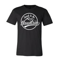 Speak to the Mountain-White Unisex Fine Jersey T-shirt