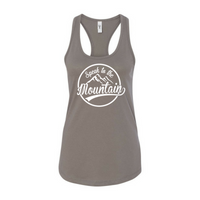 Speak to the Mountain- Women's Ideal Racerback Tank