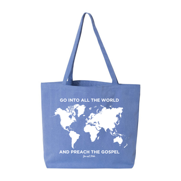 Spread the Gospel- Pigment Dyed Premium Canvas Tote