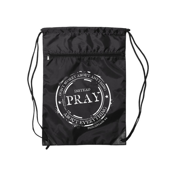 Instead Pray- Drawstring Backpack