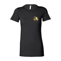 Gold Lion- Ladies Black Fine Jersey Tee