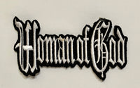 Woman of God- White Embroidered Patch