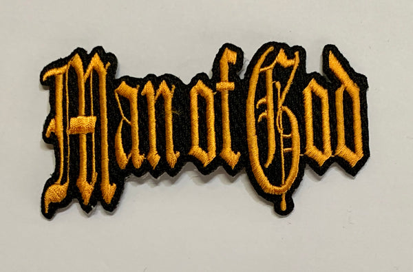 Man of God- Gold Embroidered Patch