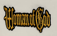 Woman of God- Gold Embroidered Patch