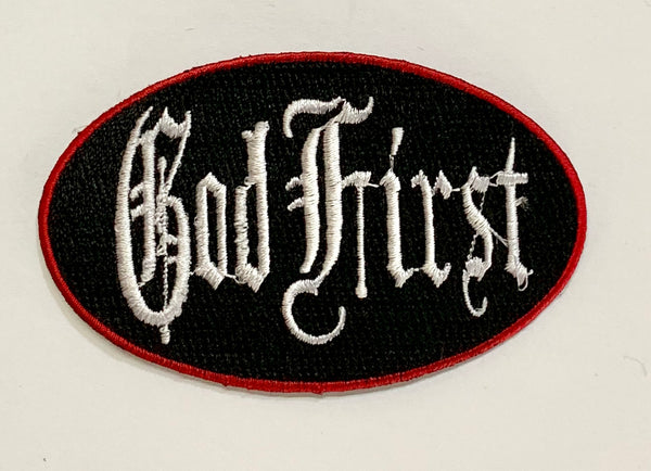 God First-Embroidered Patch