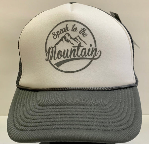 Speak to the Mountain- Silver/White Trucker Hat