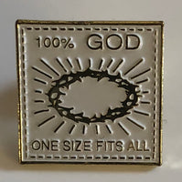 One Size- Vintage Hard Enamel Pin
