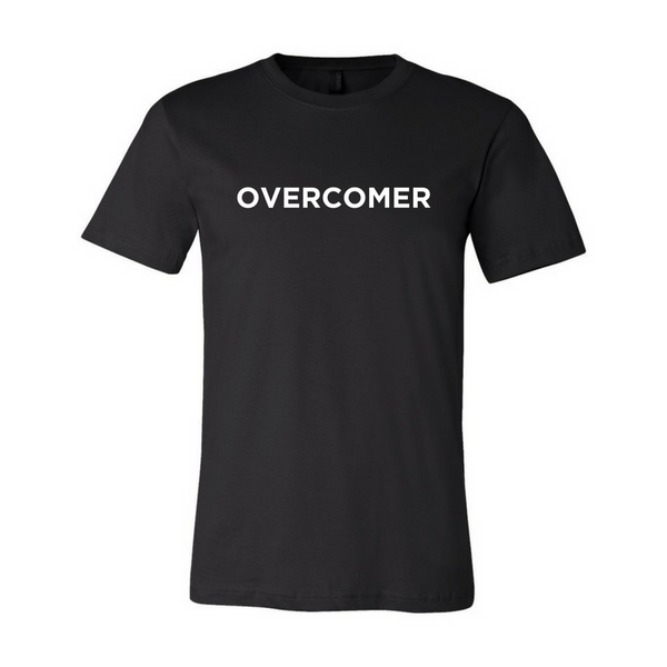 Overcomer- Black Unisex Short Sleeve Jersey Tee