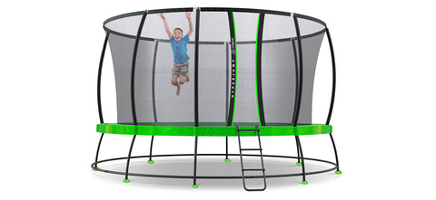 photo of a boy on the lifespan 14ft hyperjump3 trampoline all things for kids