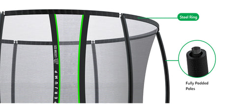photo of the net enclosure of the lifespan hyperjump3 trampoline all things for kids
