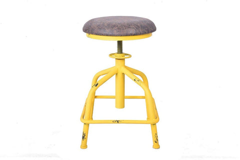 Morty Industrial Swivel Chair - Yellow - Raw Deco Lab