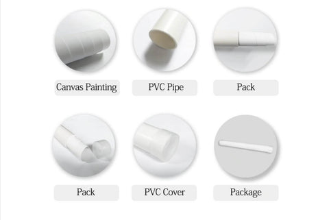 Canvas Packaging - PVC Tube With A Cover - Raw Deco Lab