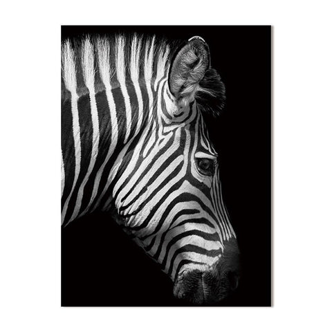 Black And White Canvas - Animals - Zebra - Raw Deco Lab