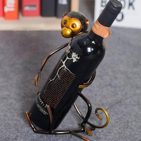 Funky Monkey Wine Bottle Holder - Raw Deco Lab