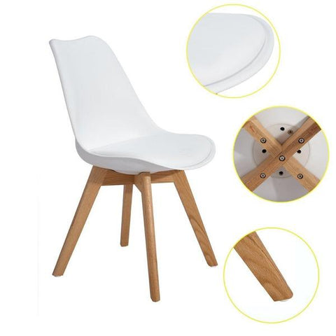 Uriele Chair Set Of 4 - Plastic chair - PU leather seat - Raw Deco Lab