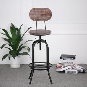Charmy Industrial Bar Stool - Raw Deco Lab