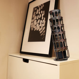 Leaning Tower of Pisa Wine Bottle Holder - Raw Deco Lab