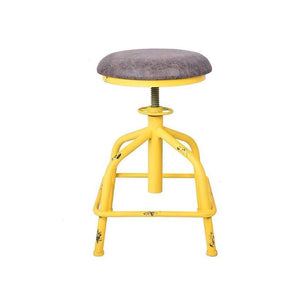 Morty Yellow Industrial Swivel Chair - Raw Deco Lab