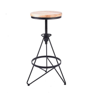 Oreo Vintage Swivel Barstool - Raw Deco Lab