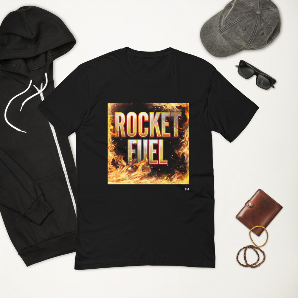 Short Sleeve T-shirt: Rocket Fuel Flame What Are You Made Of?