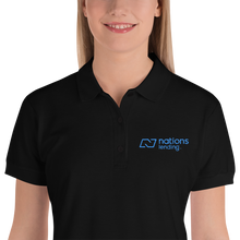 Embroidered Women's Polo Shirt: NATIONS BLUE