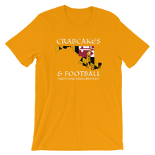 Short-Sleeve Unisex T-Shirt: CRAB CAKES AND FOOTBALL