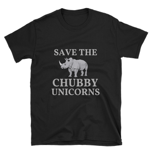 Short-Sleeve Unisex T-Shirt: CHUBBY UNICORNS