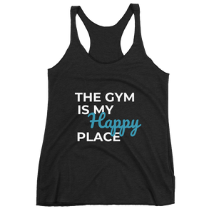 Women's Racerback Tank: MY HAPPY PLACE
