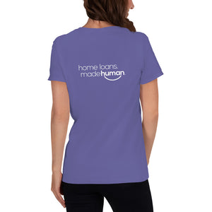 Women's short sleeve t-shirt: *NEW* NATIONS LENDING WHITE