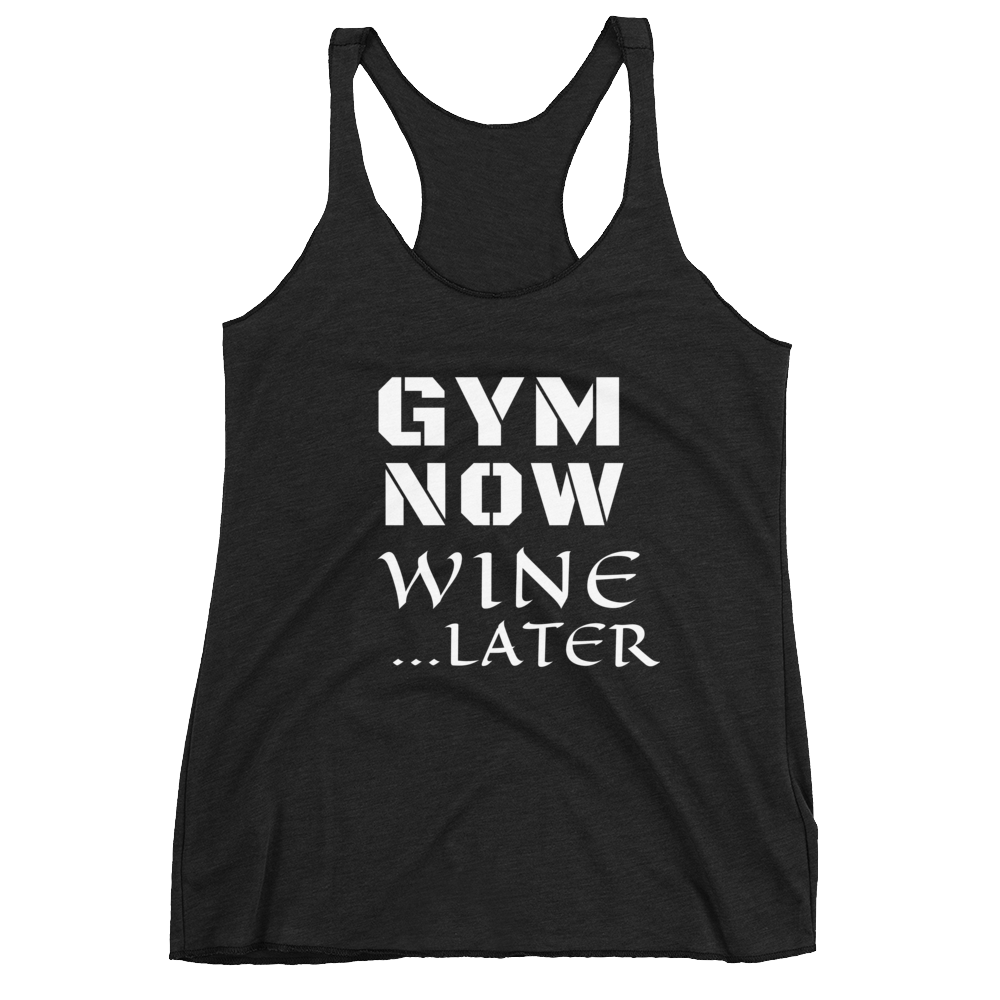 Women's Racerback Tank: WINE LATER