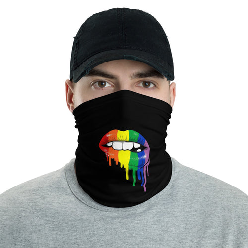 Neck Gaiter: Rainbow Lips Masks