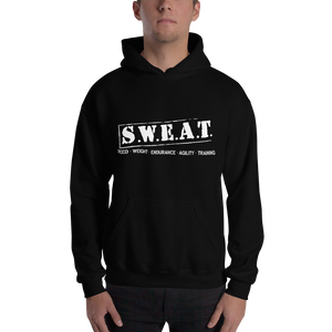 "Hooded Sweatshirt: ""SWEAT"" Shirt"