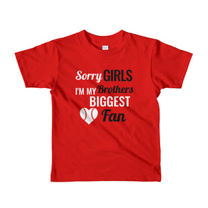 Short sleeve kids t-shirt: Brothers Biggest Fan