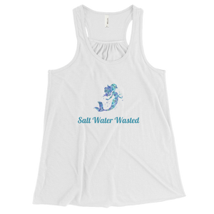 Women's Flowy Racerback Tank:Salt Water Wasted