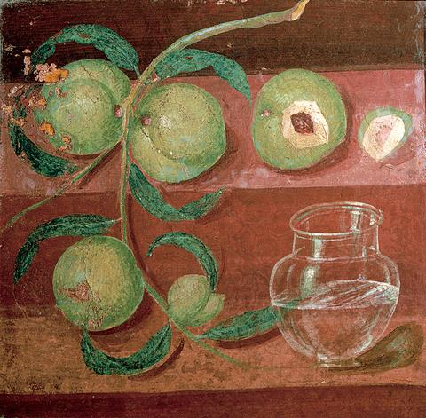 Still Life with Peaches, ca. 50A.D., from the ancient Roman town of Herculaneum, courtesy of the Archaeology Museum, Naples