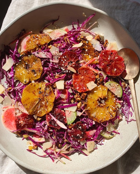 April Valencia's Burnt Orange Cabbage Salad