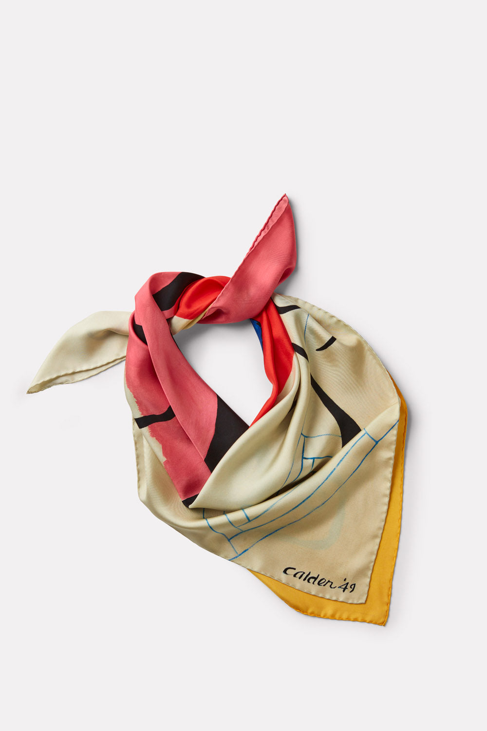 Calder Silk Scarf - 'Starfish on Pink'