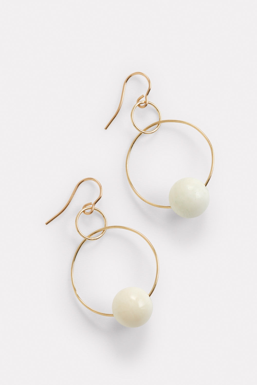 PermanentCollection - Blunk Double Hoop Gold:Bone 3