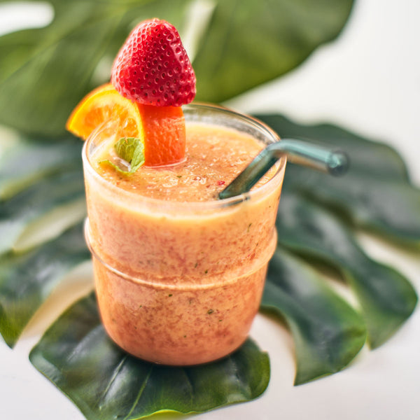 Peachy Strawberry Mint Smoothie