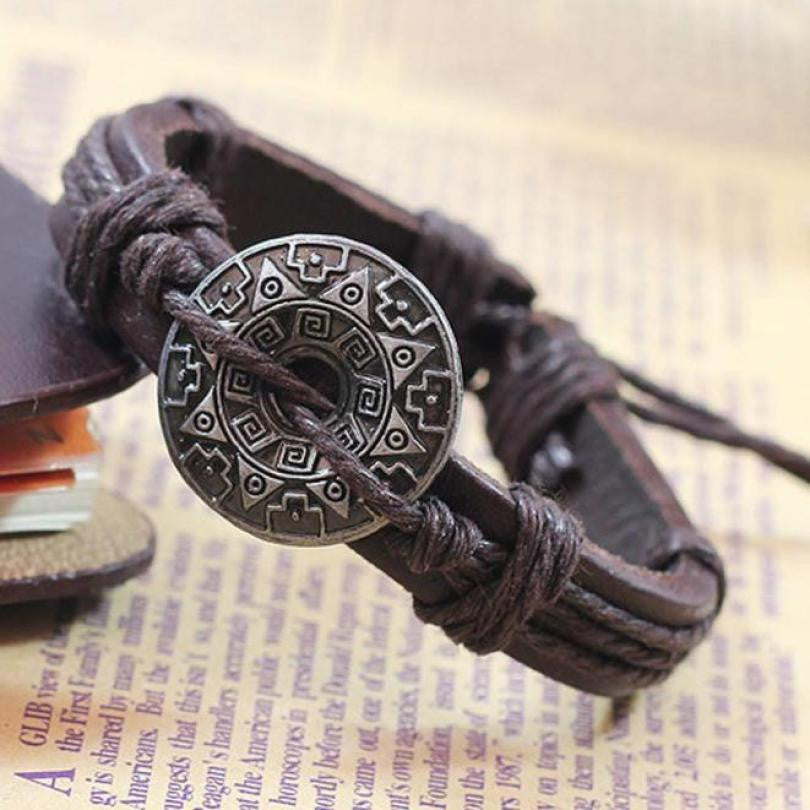 SUSENSTONE Retro Girl Boy Style Bracelet Bangle Charm Cuff Jewelry bracelets for women  Brown and Black