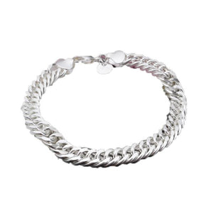 New Fashion Men Jewelry Figaro Box Curb Chain Bracelet Stainless Steel