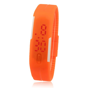 New Ultra Thin Men Girl Sports Silicone Digital LED Sports Wrist Watch