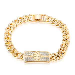 Top Quality Men Jewelry Bracelet Gold-color Vintage Classical Style Beautiful Hand Chain Real Fashion Bijoux Gift