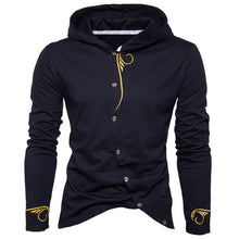 2018 Spring Autumn Hoodies Men Cotton Casual Sweatshirts Button Jacket Long Sleeve Sportswear Embroidery Stylish Brand Clothing