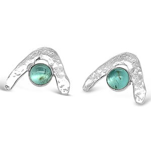Wave Earrings in Apatite
