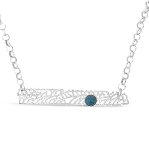 London Blue Topaz Fan Coral Necklace