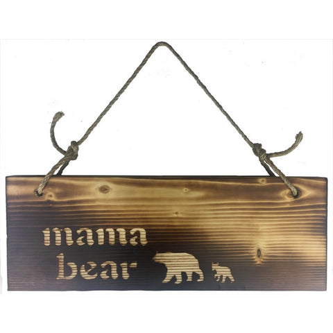 Wall hanging sign, Mamma Bear followed by one cub