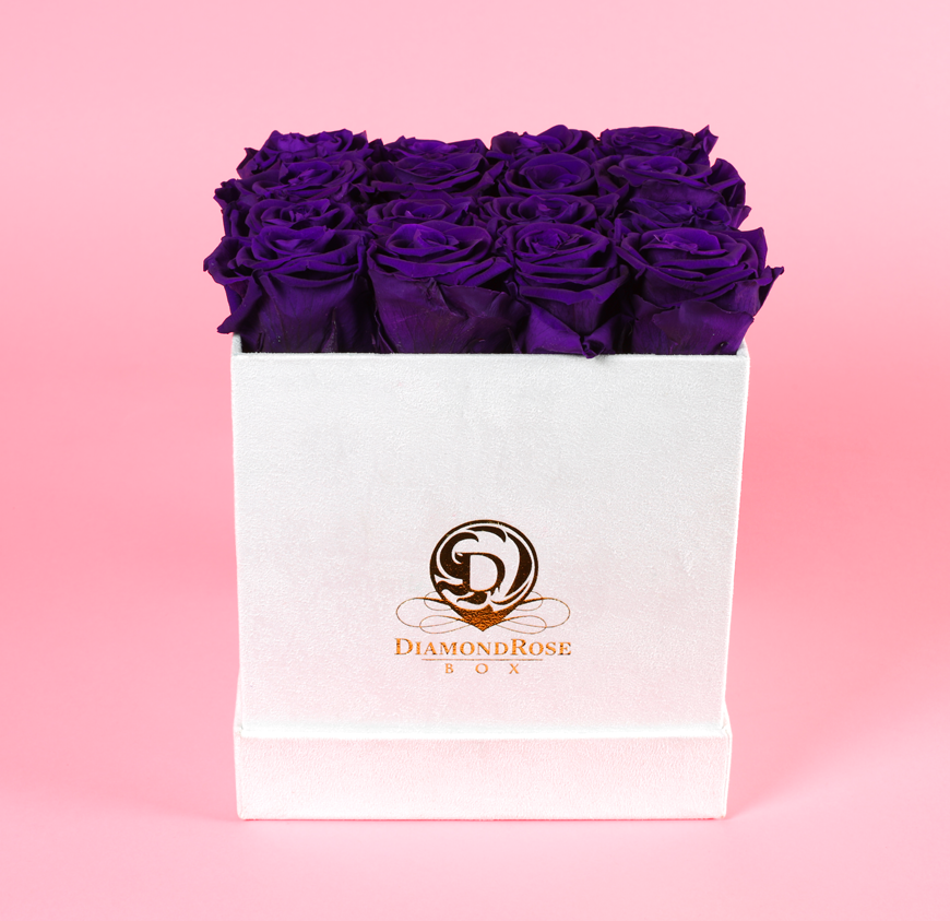 The White Velvet Emerald Rose Box