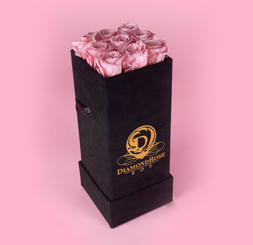 The Nine Carat Roses In a Velvet Box
