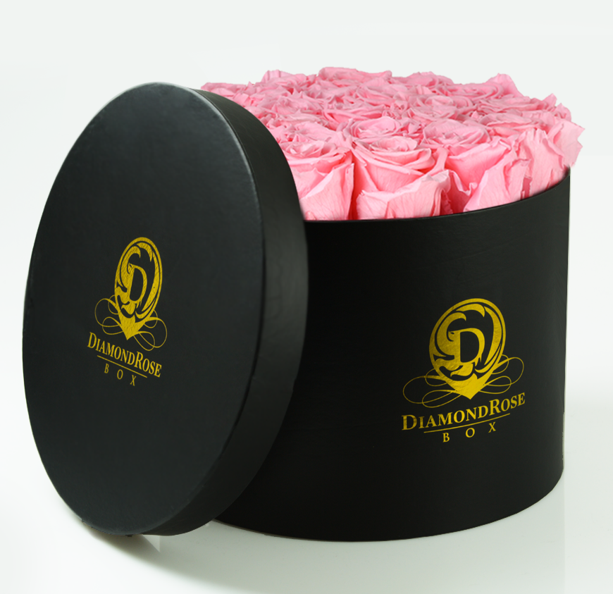 The Princess Roses In a Round Box